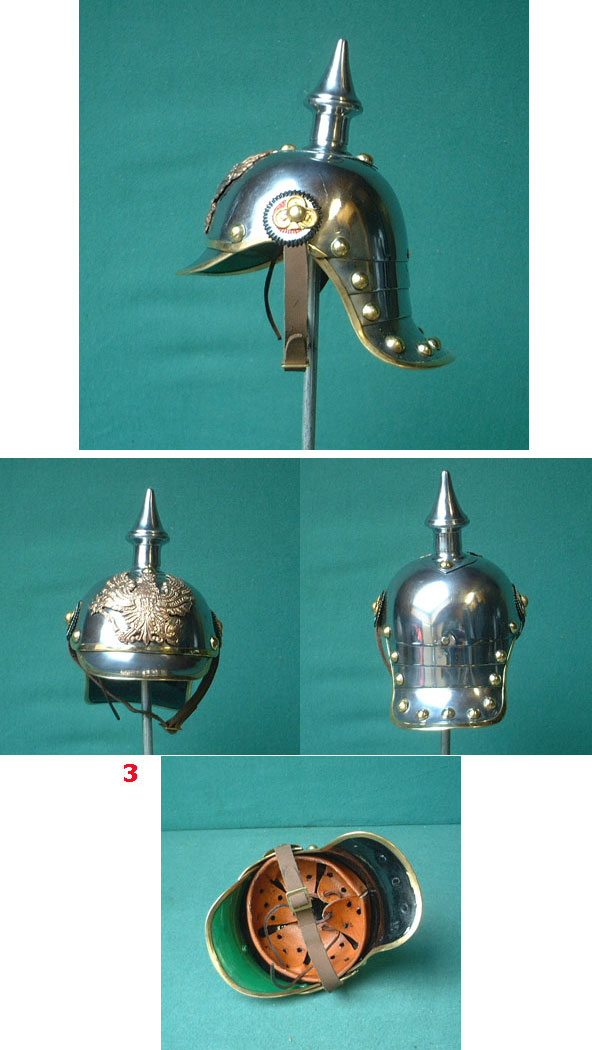 German mini helmet Pickelhaube Prussia, 19th ct.