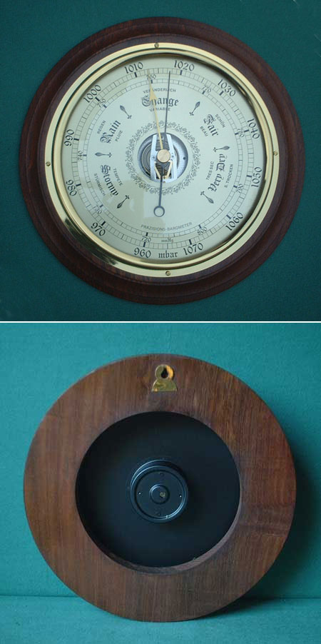 Barometer, 19th cent. style, brass, handmade