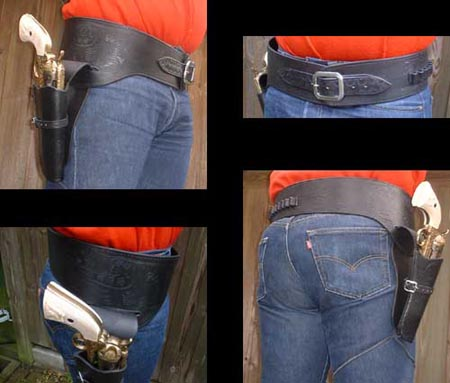 Western Colt Buscadero Holster and belt (black) - size S