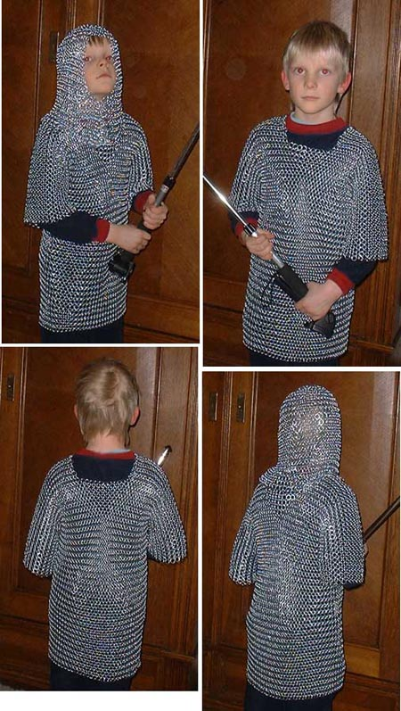 Chain Mail Shirt for children age 5 to 10