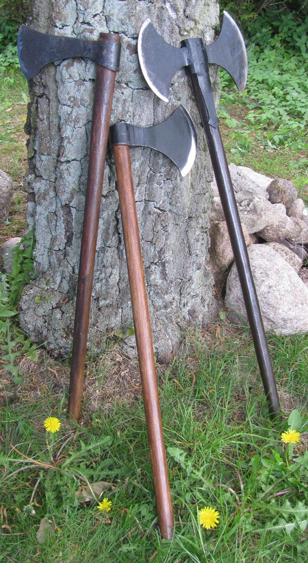 of 3 different types of Viking axes