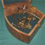 Large 6 inch Brass Navy Sextant w. Hardwood Box - (Replica)