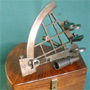 großer Marine Sextant, m. Patina Reproduktion