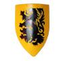 Crusader's lion shield 13th century