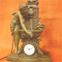 Art Nouveau clock with fountain