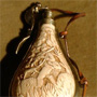Decorative gunpowder flask, 18th century style