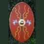 Römer - Holz - Schild,  scutum  römisch, oval
